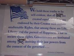 teacher alters declaration of independence